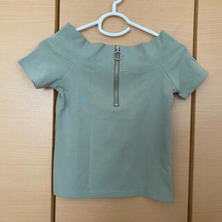 アナップ(ANAP)のセンターリングオフショルトップス(カットソー(半袖/袖なし))
