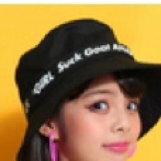 アナップキッズ(ANAP Kids)の【未使用】ANAP GiRL ベルト付バケット ブラック / FREE(帽子)