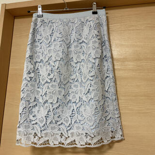 ANAYI - アナイ 水色レースタイトスカート 36