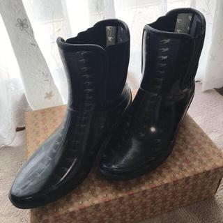 ミッシェルクラン(MICHEL KLEIN)のレインブーツ 黒に近いネイビー(長靴/レインシューズ)