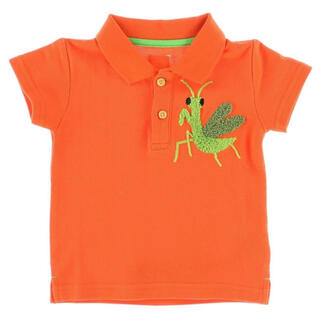 kladskap - インセクトコレクション さがら刺繍かまきりくんポロシャツ