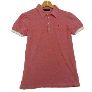 ディースクエアード(DSQUARED2)のDSQUARED2ディースクエアード メンズ半袖ポロシャツ ピンバッチ  ピンク(ポロシャツ)