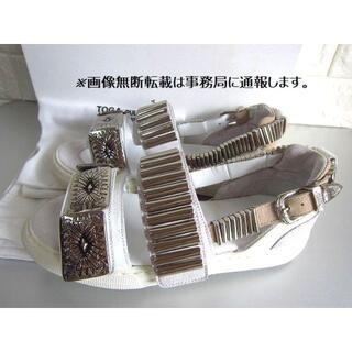 TOGA - 新品 TOGA PULLA トーガ プルラ メタル スニーカー サンダル/35