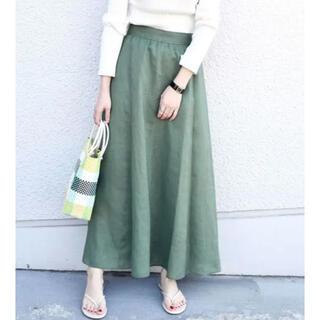 シップスフォーウィメン(SHIPS for women)のシップス テレデランリネンスカート  サイズ36(ロングスカート)