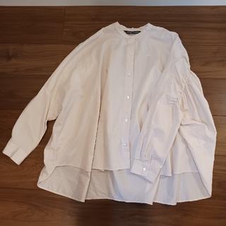 ネストローブ(nest Robe)のmizuiroind ミズイロインド バックギャザーワイドシャツ ピンク (シャツ/ブラウス(長袖/七分))