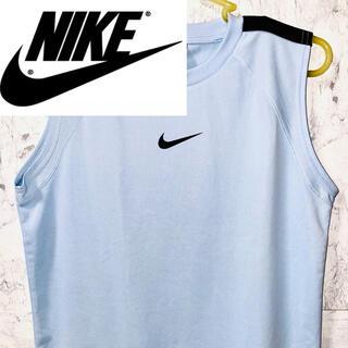 ナイキ(NIKE)のNIKE ナイキ タンクトップ ノースリーブ メッシュ 水色 150(Tシャツ/カットソー)
