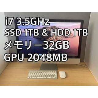 マック(Mac (Apple))のiMac 27インチ Mid2011 i7 3.5GHz SSD 1TB(デスクトップ型PC)