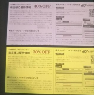 タカラトミーモール 40%OFF株主優待券クーポン 1枚(未使用)(ショッピング)
