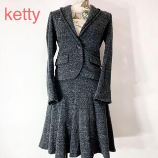 ketty - ketty ケティ スカート ジャケット セットアップ スーツ ストレッチ素材