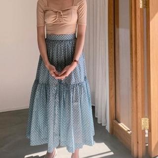 ベリーブレイン(Verybrain)のCotton dot skirt(ひざ丈スカート)