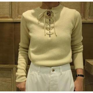ロンハーマン(Ron Herman)のAURALEE 14.5μ Wool Rib Knit Lace-up P/O(ニット/セーター)