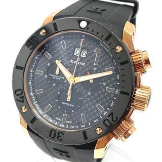 EDOX - 新同 エドックス 10020 デイト クロノオフショア メンズ腕時計 ブラック