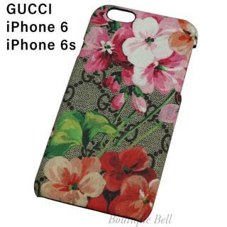 グッチ(Gucci)の【GUCCI】グッチ GG ブルームス フラワー柄 iPhone6/6sケース(iPhoneケース)