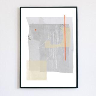 【アートポスター】ナチュラル グレー 水彩 選べるサイズ おしゃれ(アート/写真)