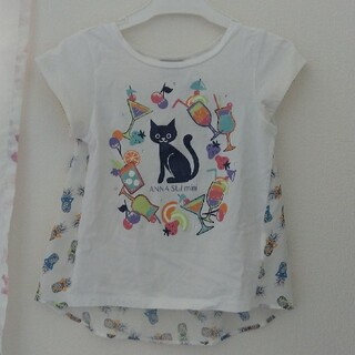 ANNA SUI mini - ANNA SUI mini ネコ柄 Tシャツ 120cm