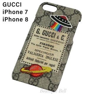 グッチ(Gucci)の【GUCCI】グッチ UFOナイトクーリエ iPhone7/8ケース ベージュ(iPhoneケース)