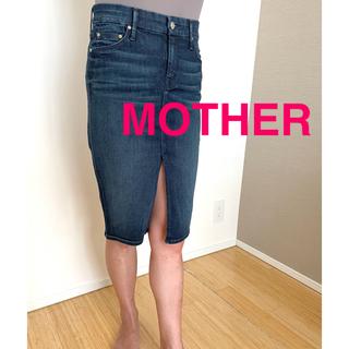 マザー(mother)のマザー FRONT SLIT SKIRT(ひざ丈スカート)