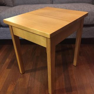 MUJI (無印良品) - 無印 サイドテーブル ( タモ材 )
