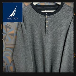 ノーティカ(NAUTICA)のノーティカ 長袖Tシャツ ロンT サーマル ヘンリーネック グレー(Tシャツ/カットソー(七分/長袖))