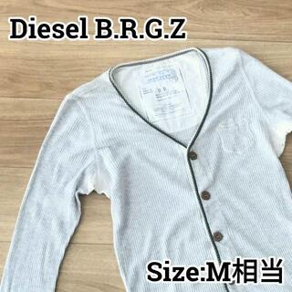 ディーゼル(DIESEL)のDiesel B.R.G.Z ディーゼル 長袖トップス 襟なしシャツ M相当(Tシャツ/カットソー(七分/長袖))