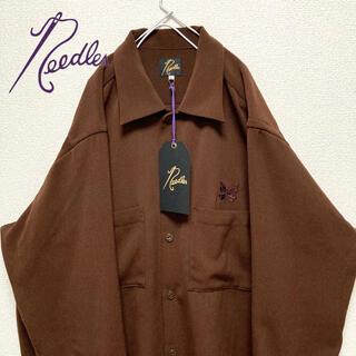 Needles - 【極美品】タグ付き ニードルス needles シャツジャケット ブラウン ロゴ