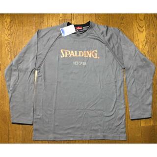 スポルディング(SPALDING)の未着用! SPALDING メンズ 長袖 Tシャツ Lサイズ グレー(Tシャツ/カットソー(七分/長袖))