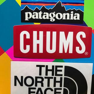 パタゴニア(patagonia)の★補強あり★新品未使用 ノースフェイス&パタゴニア&チャムス ステッカー3枚 黒(その他)