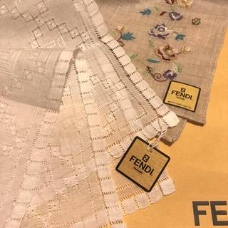 FENDI - 未使用 フェンディ   ハンカチスカーフ   コレクターアイテム 2枚SET