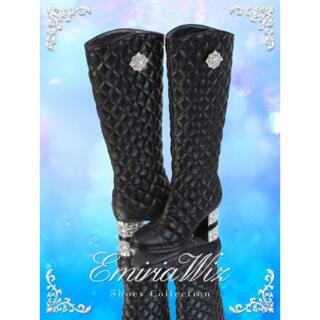 エミリアウィズ(EmiriaWiz)のEmiriaWiz キルティングブーツ(M 23.5cm)(ブーツ)
