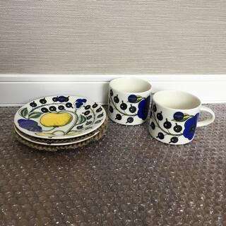 アラビア(ARABIA)のアラビア パラティッシ イエロー コーヒーカップ&ソーサー 2客セット(食器)