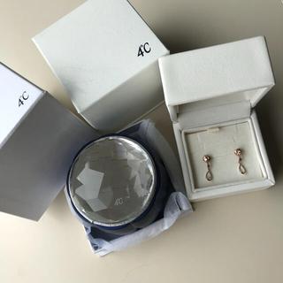 ヨンドシー(4℃)の新品未使用*4℃*ピアス*特別BOX付き(ピアス)