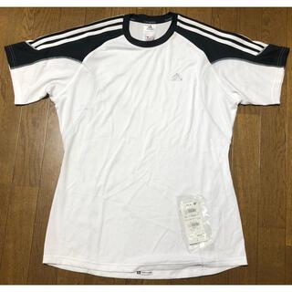 アディダス(adidas)の未着用! adidas メンズ 3本ライン Tシャツ 白(黒)(Tシャツ/カットソー(半袖/袖なし))