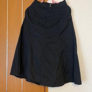 ユニクロ(UNIQLO)のユニクロ ミディスカート 黒(その他)