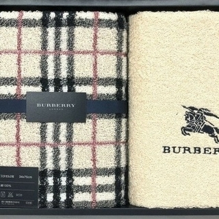 BURBERRY - 新品  バーバリーフェイスタオル2枚 ノバチェック