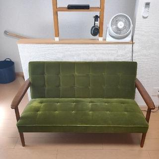 カリモクカグ(カリモク家具)のカリモク60 Kチェア 2シーター モケットグリーン(二人掛けソファ)