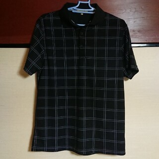 シマムラ(しまむら)の ポロシャツ メンズ M ブラック 黒 しまむら(ポロシャツ)