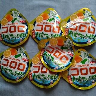 ユーハミカクトウ(UHA味覚糖)のnana☆様専用味覚糖コロロ八丈島フルーツレモン7袋セット商品(菓子/デザート)