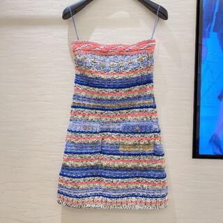 シャネル(CHANEL)の《春夏ぴったり♪》CHANEL ドレス コットン&ミックス(ひざ丈ワンピース)
