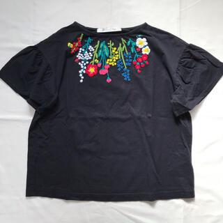 Dot&Stripes CHILDWOMAN - ドットアンドストライプスの天竺ベトナム HAND刺繍 Tシャツ