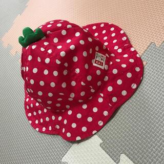ニシマツヤ(西松屋)のドット帽子 50センチ(帽子)