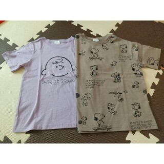 ナルミヤ インターナショナル(NARUMIYA INTERNATIONAL)の【未使用】b.ROOM スヌーピー&チャーリーブラウン Tシャツ 110(Tシャツ/カットソー)