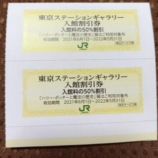 ジェイアール(JR)のjr東日本 株主優待 東京ステーションギャラリー 入館割引券 2枚(美術館/博物館)