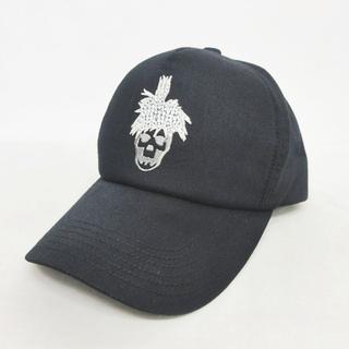 ルシアンペラフィネ(Lucien pellat-finet)のルシアンペラフィネ 美品 6パネル キャップ 帽子 スカル 黒 56~58cm(その他)