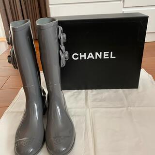 シャネル(CHANEL)のシャネル レインブーツ カメリア(レインブーツ/長靴)