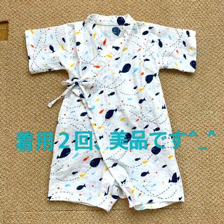 ミキハウス(mikihouse)の赤ちゃんの城 じんべい ロンパース 80サイズ(甚平/浴衣)