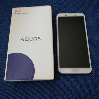 au - au AQUOS sense2 SHV43 シルキーホワイト