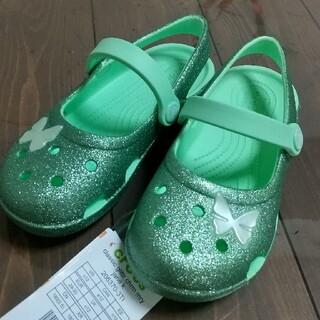 crocs - クロックス メリージェーン 18.5cm ネオミント