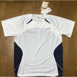 アシックス(asics)の未着用! ASICS メンズ Tシャツ ホワイト✖️ネイビー OA サイズ(Tシャツ/カットソー(半袖/袖なし))