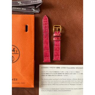 Hermes - 専用出品✨エルメス🍊Hウォッチ アリゲーター✨ ベルト ストラップ🍊尾錠なし
