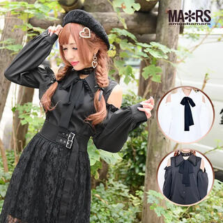 マーズ(MA*RS)の衿レース肩あきシャツ(シャツ/ブラウス(長袖/七分))